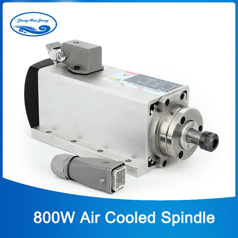 HY broche haute vitesse 800 w air refroidissement CNC broche de fraisage moteur 0.8kw 220 v ER11 avec 4 pièces de roulement pour CNC routeur