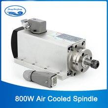 Moteur à grande vitesse 0.8kw 800 v ER11 daxe de fraisage de cnc de refroidissement par air de laxe 220 w avec 4 pièces soutenant pour le routeur de cnc