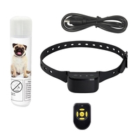 Pet Dog Training Collar Rechargeable Spray Collar Anti Barking Waterproof Safe Automatic for Dogs Sound Alarming Supplies