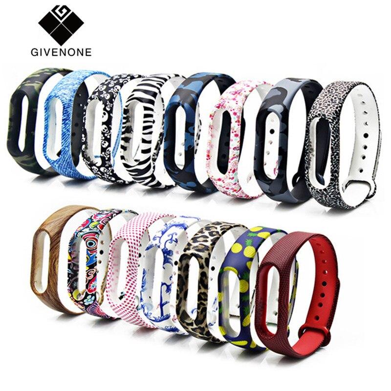 GIVENONE New Mi Band 2 Bracelet Strap Miband 2 Strap Colorful Replacement silicone wrist strap for xiaomi mi banda 2 smartband