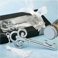 الفضة كرو المفاتيح فتحت زجاجة في علبة هدية للضيف 30 قطعة/الوحدة هبات الزفاف الإحسان والهدايا التذكارية عيد الأعمال