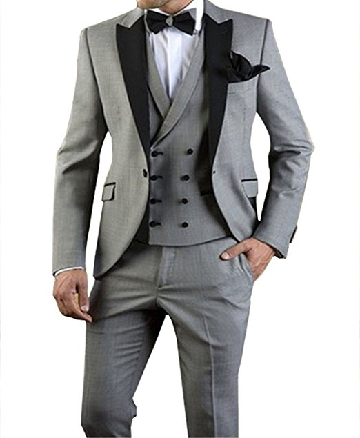 2aaa45bac8f5 Dello Tie Vest Design Vestito Button Risvolto Light Nuovo jacket Pants Picco  One Same Groomsmen Smoking Grey Sposa W 259 Sposo same Uomo Image Migliore  ...