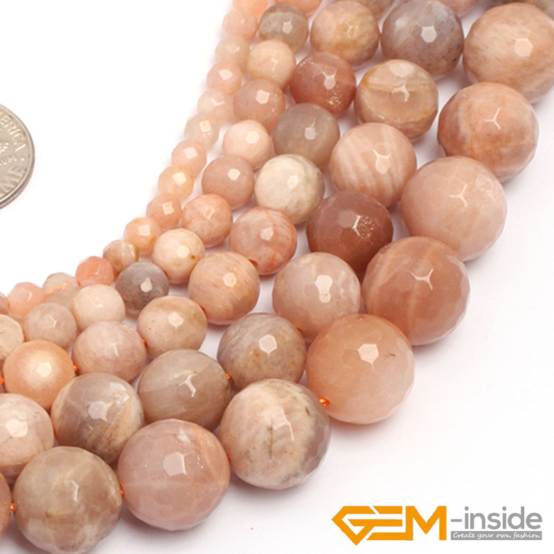 Round Faceted Sun Stone Beads,Selectable Size: 4mm 6mm 8mm 10mm 12mm,Natural Stone Bead For Bracelet Strand 15″ Wholesale !