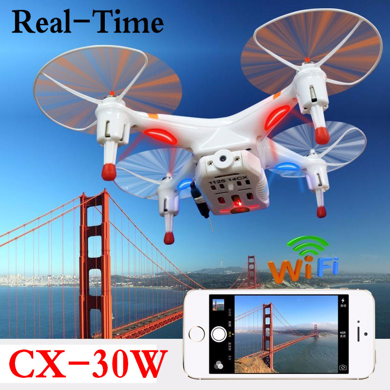 FPV Cheerson CX-30W CX30W 4CH 2.4GHz Quadcopter With Real-Time Video HD Camera RC Helicopter Professional Drones Dron cheerson cx 30w wifi cx30w model 4 ch wi fi rc quadcopter drone w fpv 30w camera