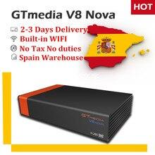 GTMedia V8 Nova DVB-S2 спутниковый ресивер+ 1 год бесплатно CCcam для испанско-португальский Германии Европа H.265 декодер Wi-Fi STB GOTIT
