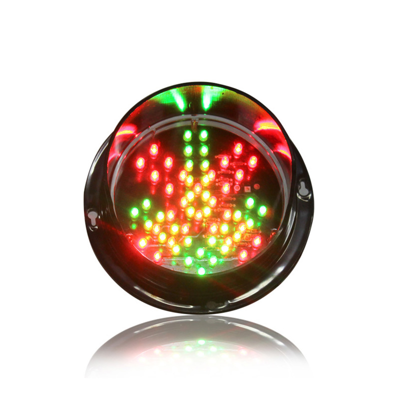 DC12V Waterproof CE RoHS Approved Customizedc125mm Diamter Lamp Red Cross Green Arrow Traffic Light Replacement