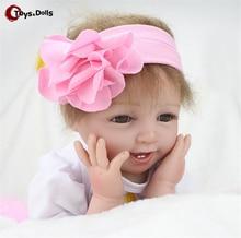 55 cm Bébé de Couchage Poupées Silicone Reborn Poupée Fille Garçon Douche Jouets Éducation Précoce Poupées Rose Princesse D'anniversaire Cadeau Enfant de Jouets