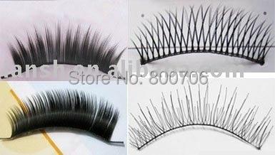 1000 Pairs Free Shipping! Devoted Fashion Natural Handmade Soft Long Black Thick Fake False Eyelashes Mix 4 Styles