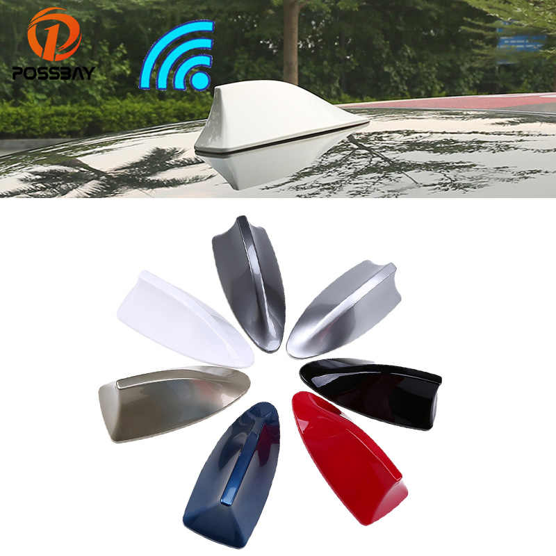 POSSBAY ABS Universal Car Roof Shark Fin Antenna Radio