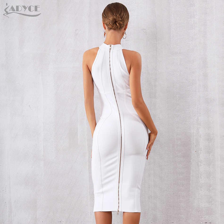 Женское вечернее платье ADYCE, белое облегающее платье без рукавов в стиле звезд, для клуба, для лета, 2019