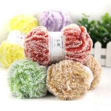 Nuevo 50 g set muy suave tejido a mano hilo de piel cálido bebé lana tejido  suéter y bufanda y sombrero imitación visón hilados . 5336bdc5cd5