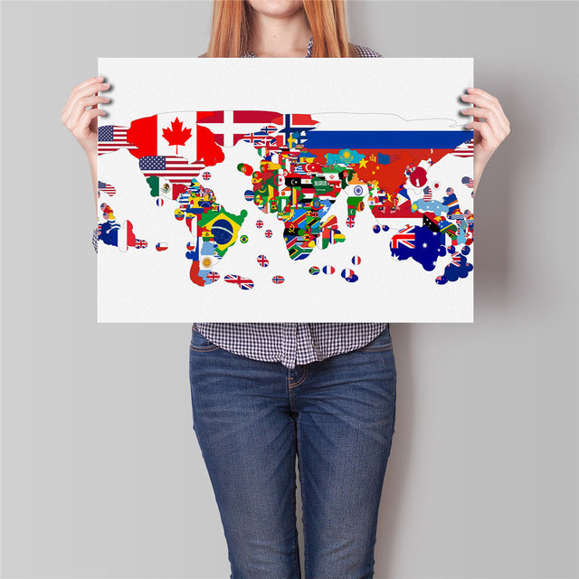 Free ship world map paper painting flag country map modern poster free ship world map paper painting flag country map modern poster home bar cafe pub restaurant sciox Image collections