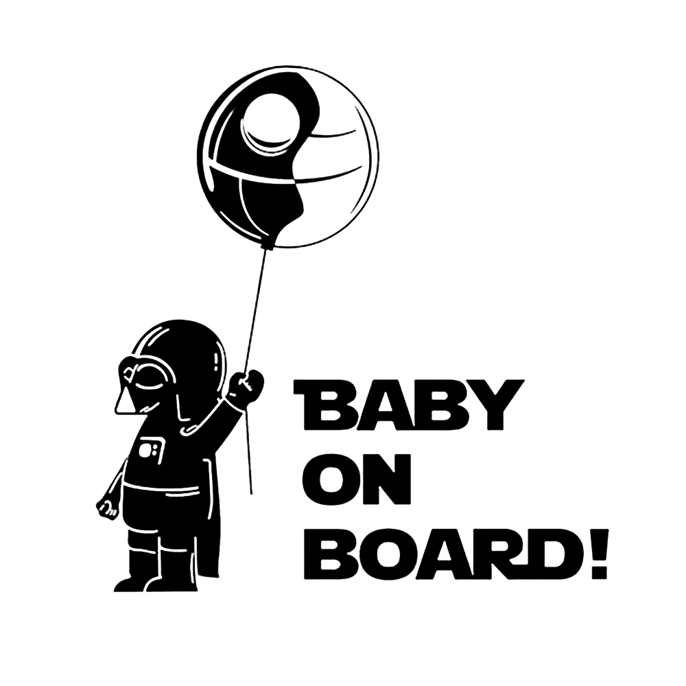 Car Sticker Baby On Board Cool Boy Play Role Playing Funny