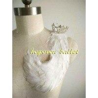 Schwanensee Hand Made Ballet Weißen Feder Headwear Mit Krone Solo Dance, Prinz Weiß Vogel Krone Ornament Einzelhandel Großhandel