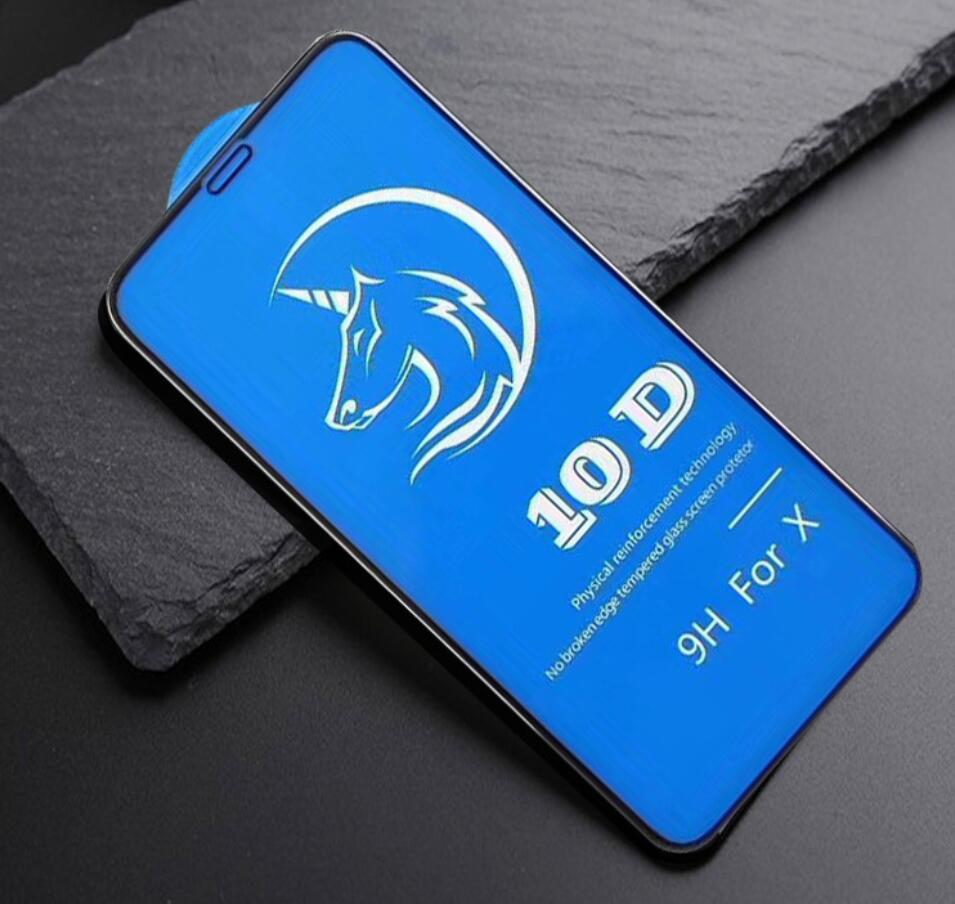 9H Hardness Anti Scratch 10D Screen Protector for iPhone XS MAX XR 6 6s 8 8P