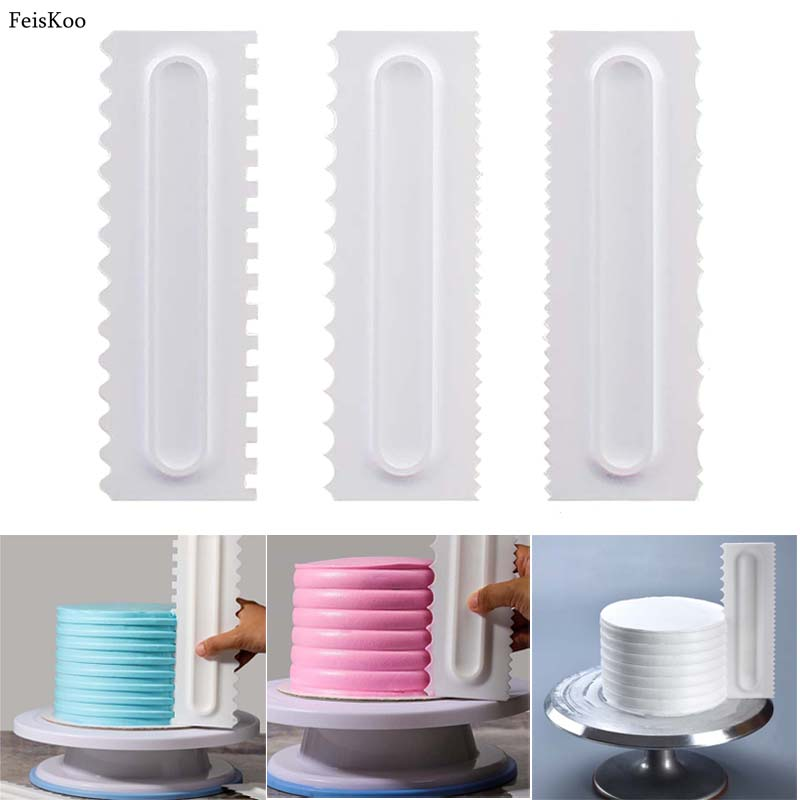 Cake Molds Cake Decorating Comb Icing Smoother Cake Scraper Pastry 6 Design Textures Baking Tools Vip For Cake Tool Dropship Kitchen,dining & Bar