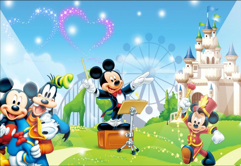 10x10ft Mickey Mouse Minnie Donald Concierto Noria
