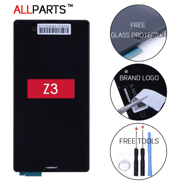Em tamanho real 5.2 polegada 1920x1080 ips exibição para sony xperia z3 d6603 d6653 lcd touch screen digitador assembléia com frame