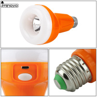 Iminovo Flashlight &torch lamp E27 USB Rechargeable 9W AC86 265V Outdoor Fixtures lights Hanging Camping Tent LED bulb