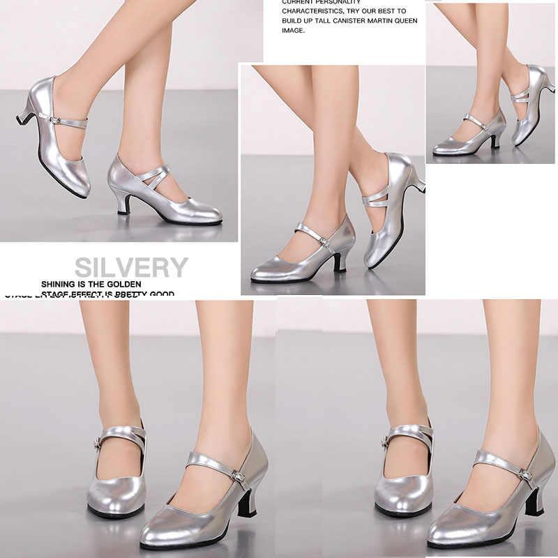 bc3c66c8 ... Patente de cuero Mary Jane mujeres gatito zapatos de tacón Zapatos de  jazz Latino vals baile ...