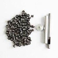 Eyelet Tool Set Grommet Kit 100 Eyelets For DIY Kydex Sheath Huning Knife Parts Free Shipping