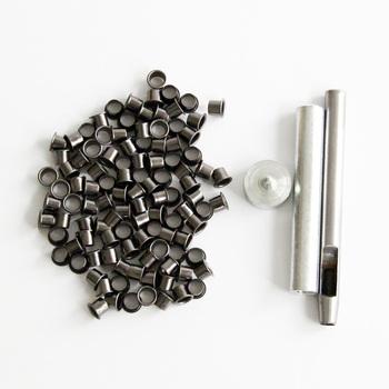 Zestaw narzędzi oczkowych zestaw przelotki + 100 oczka dla majsterkowiczów osłona kydex Huning nóż części narzędzia do pracy na zewnątrz tanie i dobre opinie QingGear Kieszeń Multi Tools B0027x100-45