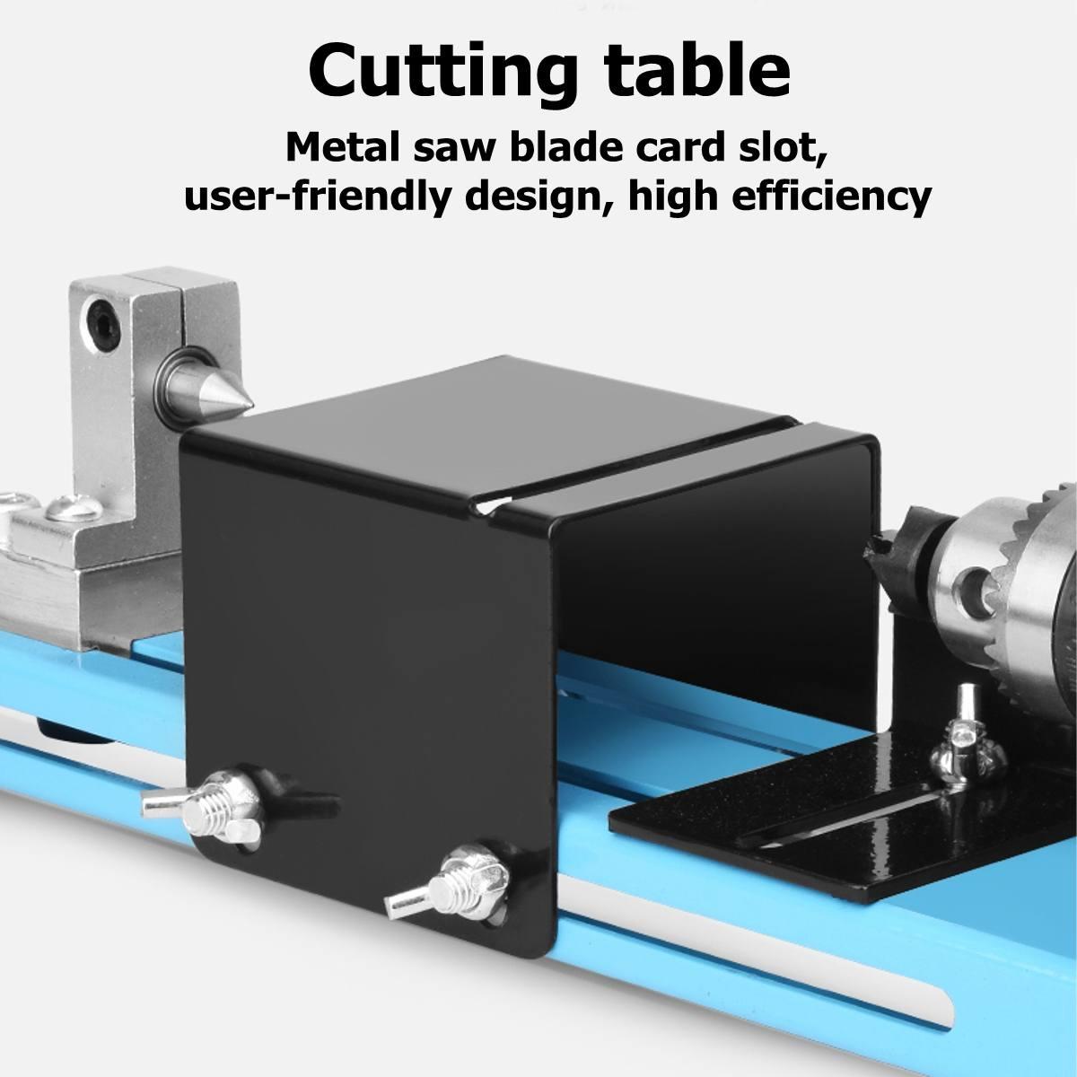 7 ebene Einstellbare Geschwindigkeit 150W Max 7000RPM Rate Mini Drehmaschine Perlen Maschine Polierer Tisch Sah Mini DIY Holz drehmaschine Kit Zubehör