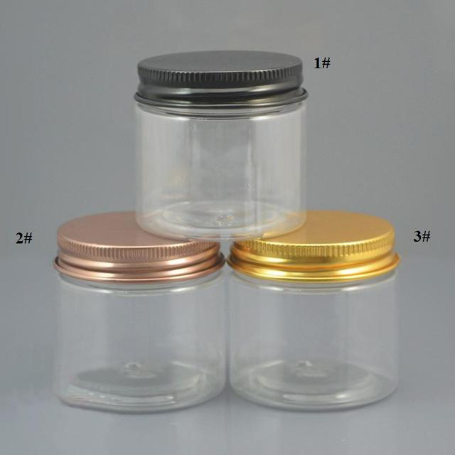 free shipping 50g 10/30/50pcs/lot transparent PET jar,