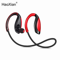 HaoXian Wireless Bluetooth Headphones Waterproof Stereo Sports Running Earphone Handsfree Headset With HD Mic For Phone