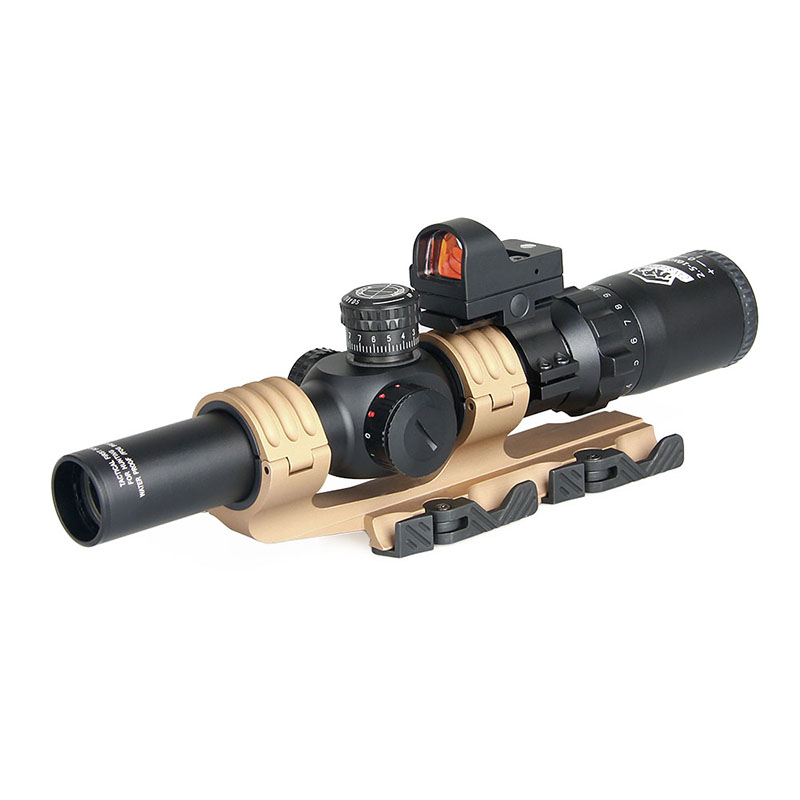 Tactical 2.5-10X26 Rifle Scope With 1x Red Dot 2 Type Scope Mount For Outdoor Hunting PP1-0345 lampada ac 220v 9w 12w e27 b22 e14 cob led bulb lamp corn light led spotlight cold white warm white led lighting free shipping