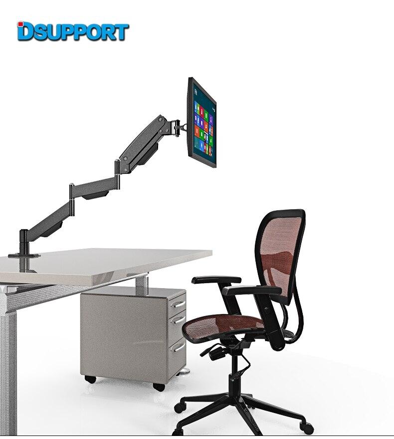 L155 Gas Spring Long Arm 17-27 LCD Computer Monitor Holder Full Motion TV Mount Desktop Bracket цена