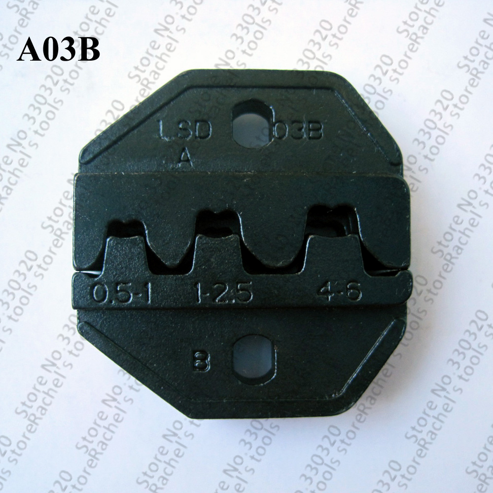 <font><b>A03B</b></font> crimping dies for non-insulated open plug type connector image