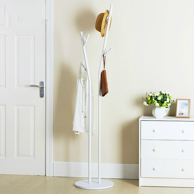 Simple European Style Landing Coatrack Iron Creative Hanger Simple - Creative clothes racks