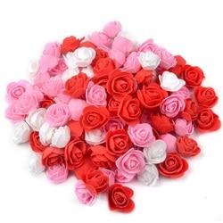 500 sztuk 3.5cm sztuczne kwiaty róż z pianki kwiat dla DIY wieniec Home dekoracje ślubne tanie sztuczny kwiat akcesoria do rękodzieła