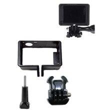Beschermende Standaard Frame voor Go Pro Accessoires Behuizing Case Grens + Statief Adapter Mount + Schroef voor GoPro Hero 4 3 3 +