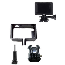 Protective Standard Frame for Go Pro Accessories Housing Case Border + Tripod Adapter Mount + Screw for GoPro Hero 4 3 3+