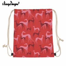 Noisydesigns 2020 Greyhound Dogs Drawstring Bag 십대 소녀들을위한 어린이 백팩 Small Storage Bags Dropshipping Mochila(China)
