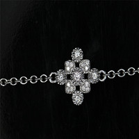 LASAMERO 0 142CTW Luxury Gold Heart Shape Bracelet Natural Diamond Crystal Bracelet 18K Gold Half Circle