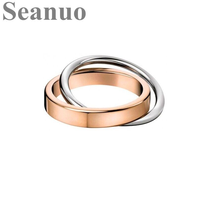 Ring verstellbarer Finger Ring aus Perle Oval Dekor Frauen 32-36mm