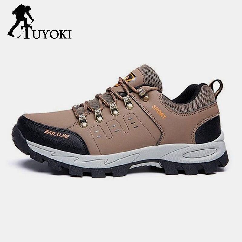Tuyoki 2019 mode haute qualité hommes chaud fourrure hiver randonnée chaussures homme quotidien Trekking baskets chaussures décontractées taille 39-45