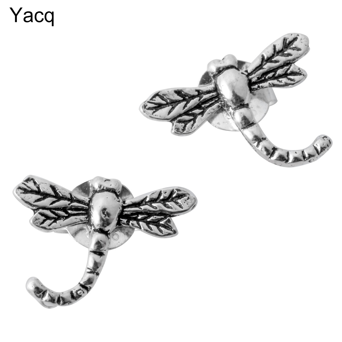 925 Sterling silver dragonfly stud earrings animal costume charm fashion jewelry gifts for women girls her dropshipping YCE30A