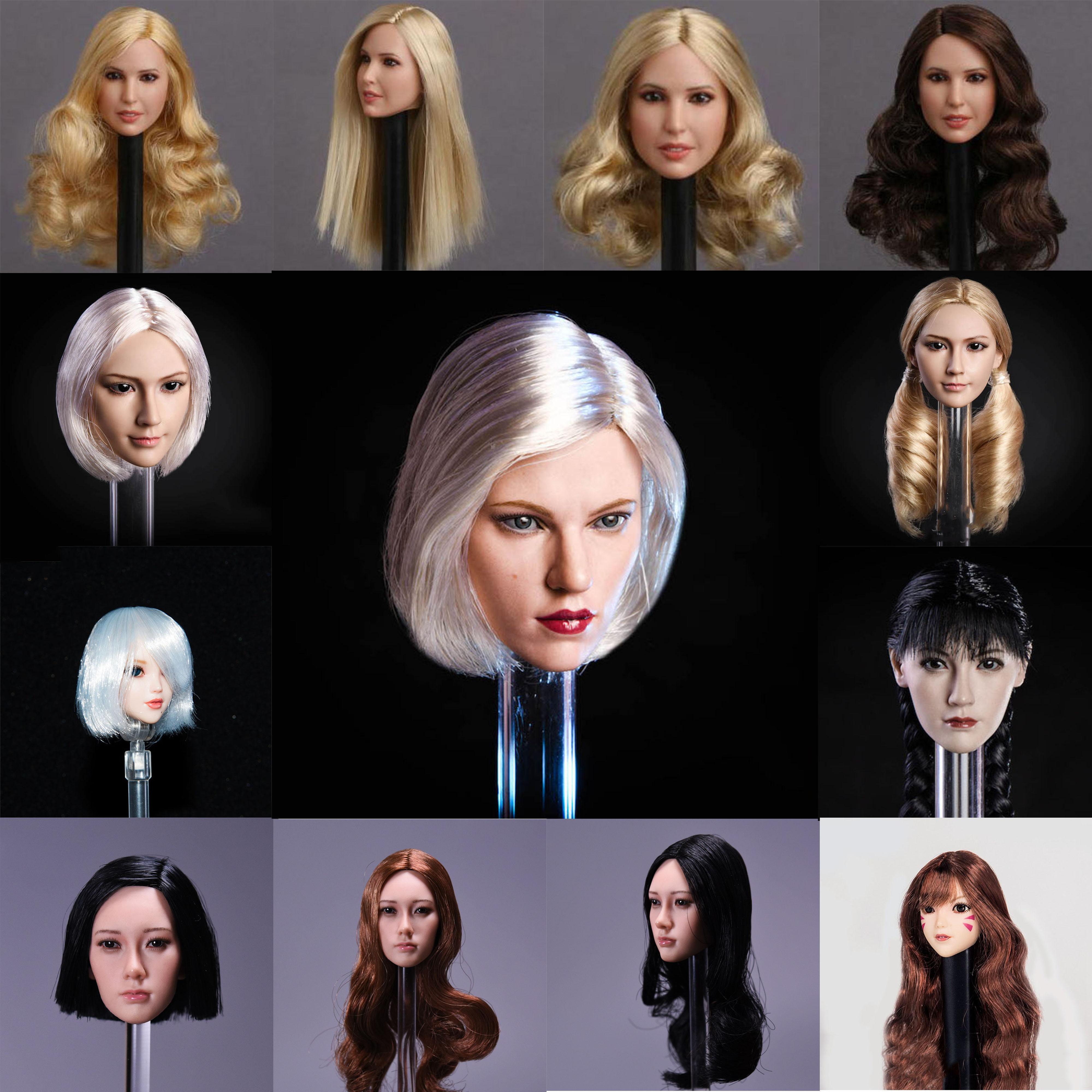 1//6 GACtoys Accessory Europe Beauty Female Long Hair Head Sculpt GC009 C Ver