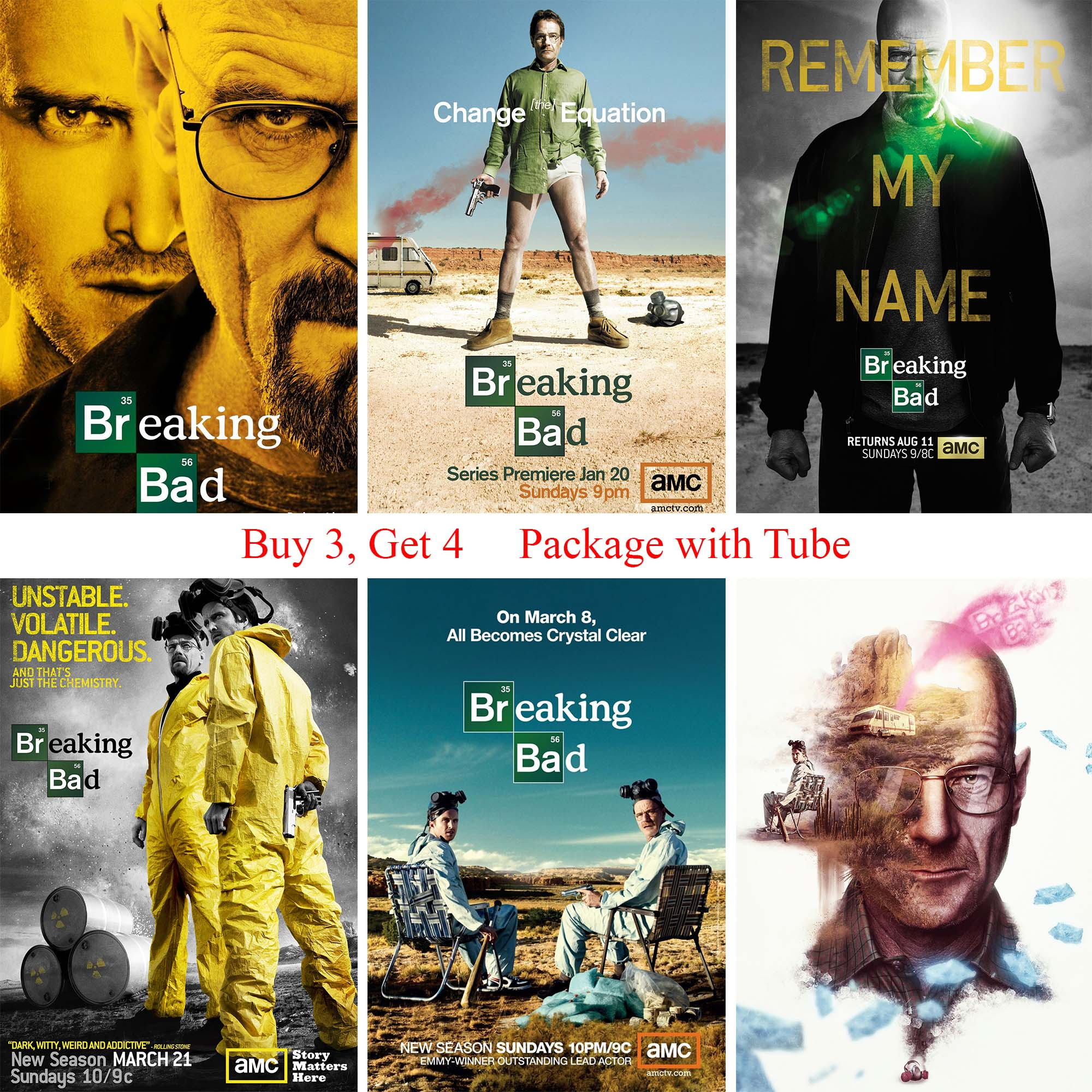 Breaking Bad Posters White Coated Paper Prints Morden Style Home Decoration