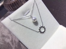 925 Sterling Silver Fashion Pearl Necklace Mounting, Nice Quality Necklace Settings Jewelry Parts Fittings Charm Accessories