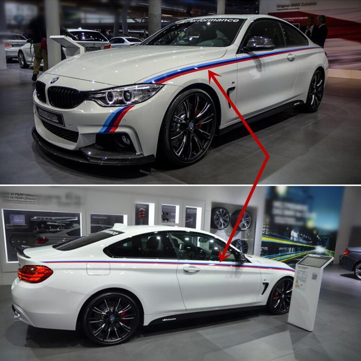 For BMW 4 Series F32 Car Waistline Decal Sticker 3 Colors