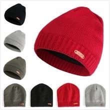 купить KLV 2019 Men Women Baggy Warm Crochet Winter Wool Knit Beanie Skull Slouchy Caps Hat For Girls Gorras Mujer дешево