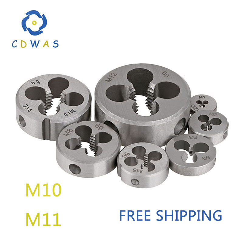 M10 M11 X 0.5mm 0.75mm 1mm 1.25mm 1.5mm Metric Die Right Hand Pitch Threading Tools For Mold Machining * 0.5 0.75 1 1.25 1.5