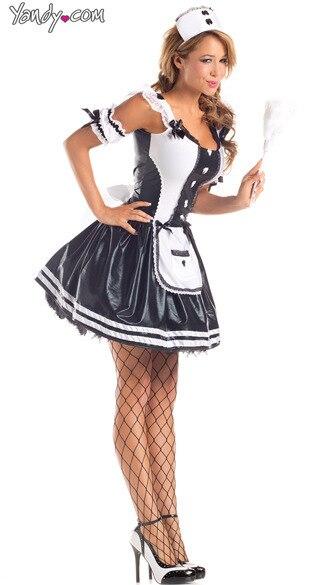 Free Shipping Halloween Sexy French Maid Waitress Rocky Horror Fancy