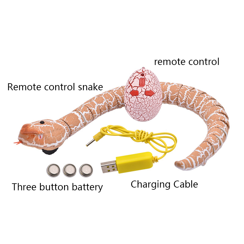 Novelty Remote Control Snake Rattlesnake Animal Trick Terrifying Mischief Toy Novelty Gag Toys For Children's Adult