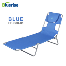 hot deal buy bluerise outdoor furniture folding beach chair three positions recline or lay flat tanning massage reading lounge chaise 2 color